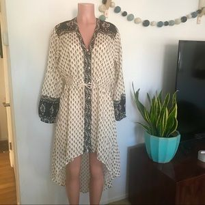 Billabong Boho cotton paisley hi lo hem dress